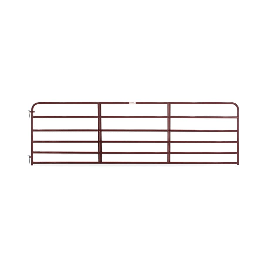 Tarter (Common: 4.16-ft x 14-ft; Actual: 4.16-ft x 13.75-ft) Red E-Coat Steel Farm Fence Gate