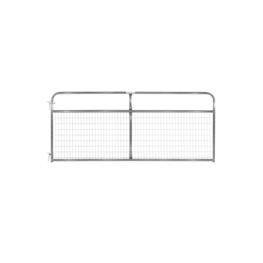 Tarter (Common: 4.16-ft x 10-ft; Actual: 4.16-ft x 9.75-ft) Gray Powder Over E-Coat Steel Farm Fence Gate