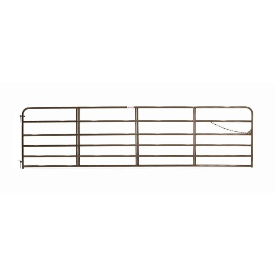 Tarter (Common: 4.16-ft x 16-ft; Actual: 4.16-ft x 15.75-ft) Brown Powder Coat Steel Farm Fence Gate