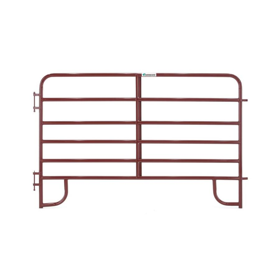 Tarter (Actual: 5.166-ft x 8-ft) Painted Steel Farm Fence Panel