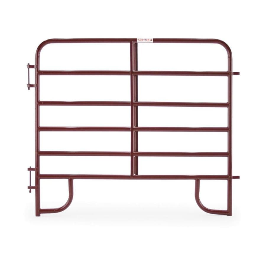 Tarter (Actual: 5.166-ft x 6-ft) Painted Steel Farm Fence Panel