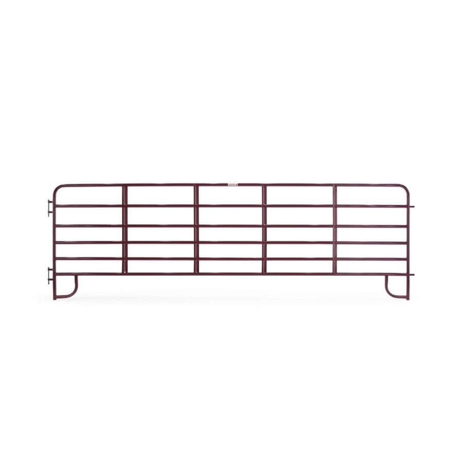 Tarter (Actual: 5.166-ft x 16-ft) Painted Steel Farm Fence Panel