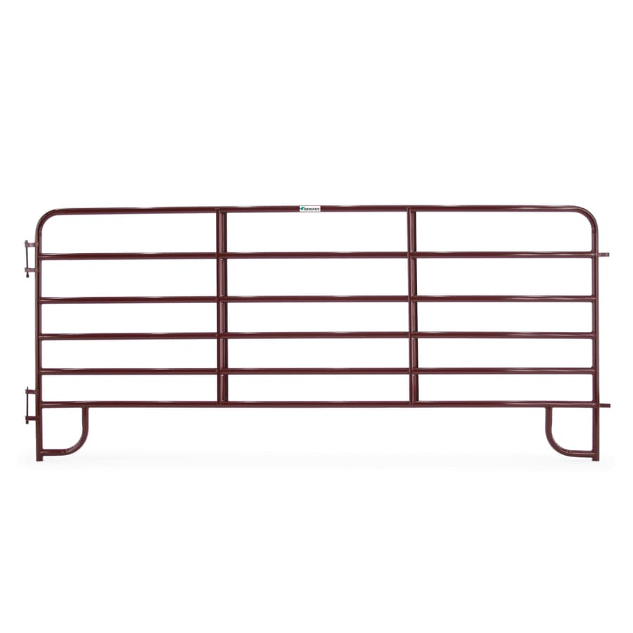Tarter (Common: 5-ft x 12-ft; Actual: 5.166-ft x 12-ft) Painted Steel Farm Fence Panel