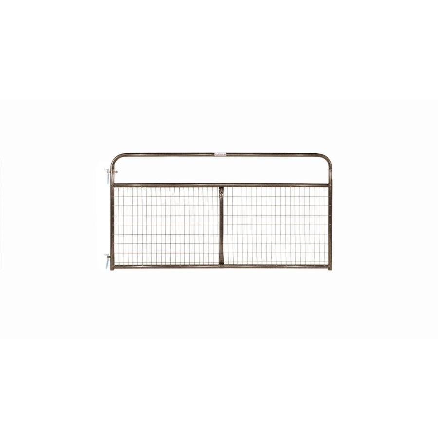 Tarter (Common: 4.16-ft x 8-ft; Actual: 4.16-ft x 7.75-ft) Brown Powder Coat Steel Farm Fence Gate