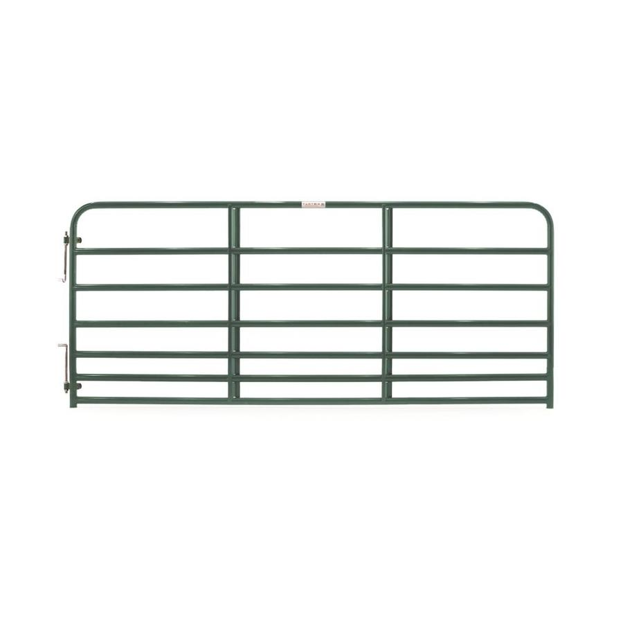 Tarter (Common: 4.16-ft x 10-ft; Actual: 4.16-ft x 9.75-ft) Green Powder Over E-Coat Steel Farm Fence Gate