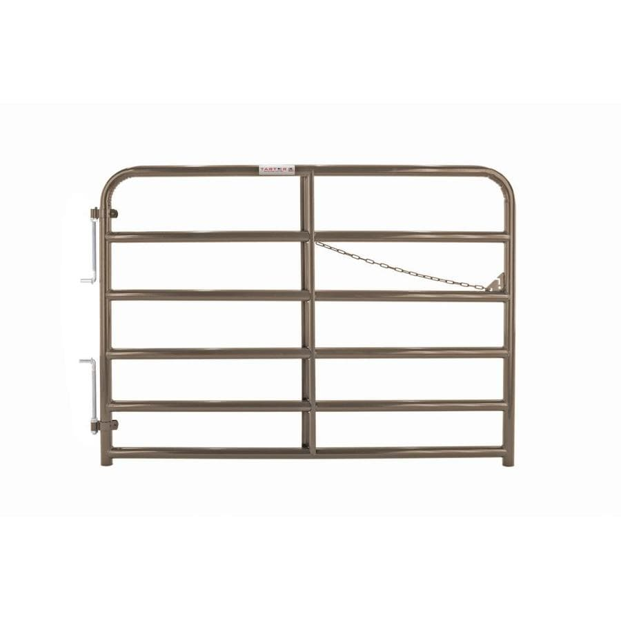 Tarter Brown Powder Coat Steel Farm Fence Gate (Common: 4.33-ft x 6-ft; Actual: 4.33-ft x 5.75-ft)