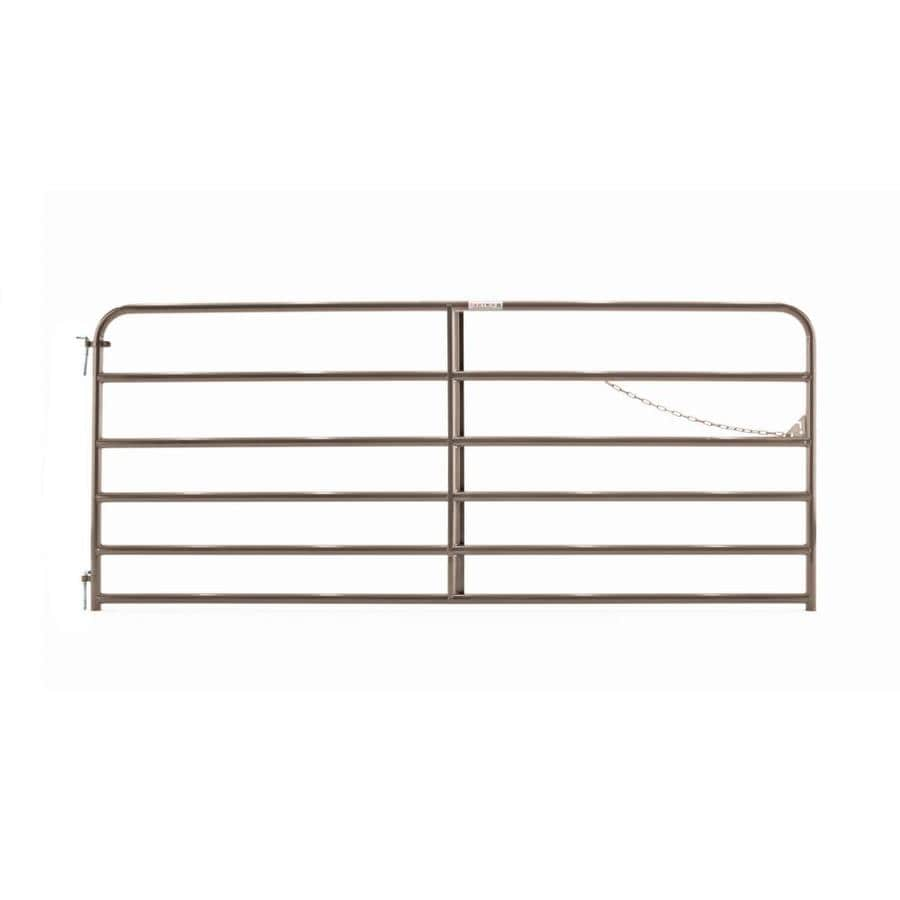 Tarter (Common: 4.16-ft x 10-ft; Actual: 4.16-ft x 9.75-ft) Brown Powder Coat Steel Farm Fence Gate
