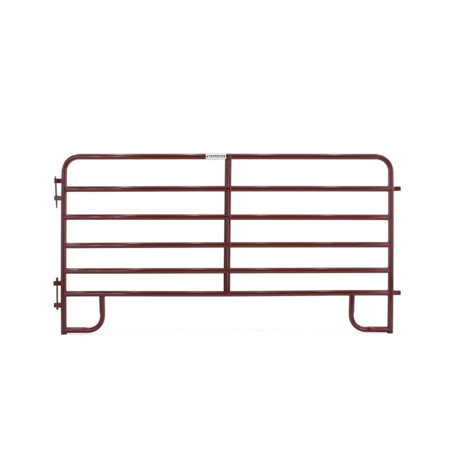 Tarter (Common: 5-ft x 10-ft; Actual: 5.166-ft x 10-ft) Painted Steel Farm Fence Panel