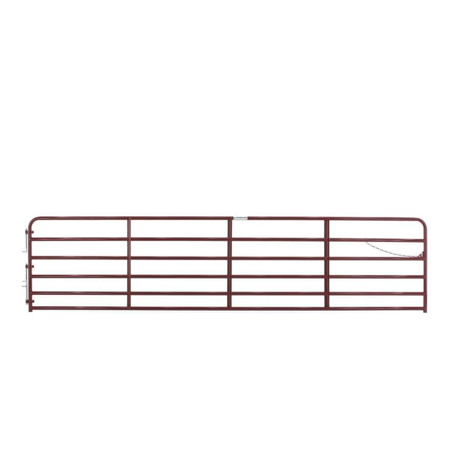 Tarter (Common: 4.33-ft x 18-ft; Actual: 4.33-ft x 17.75-ft) Red E-Coat Steel Farm Fence Gate
