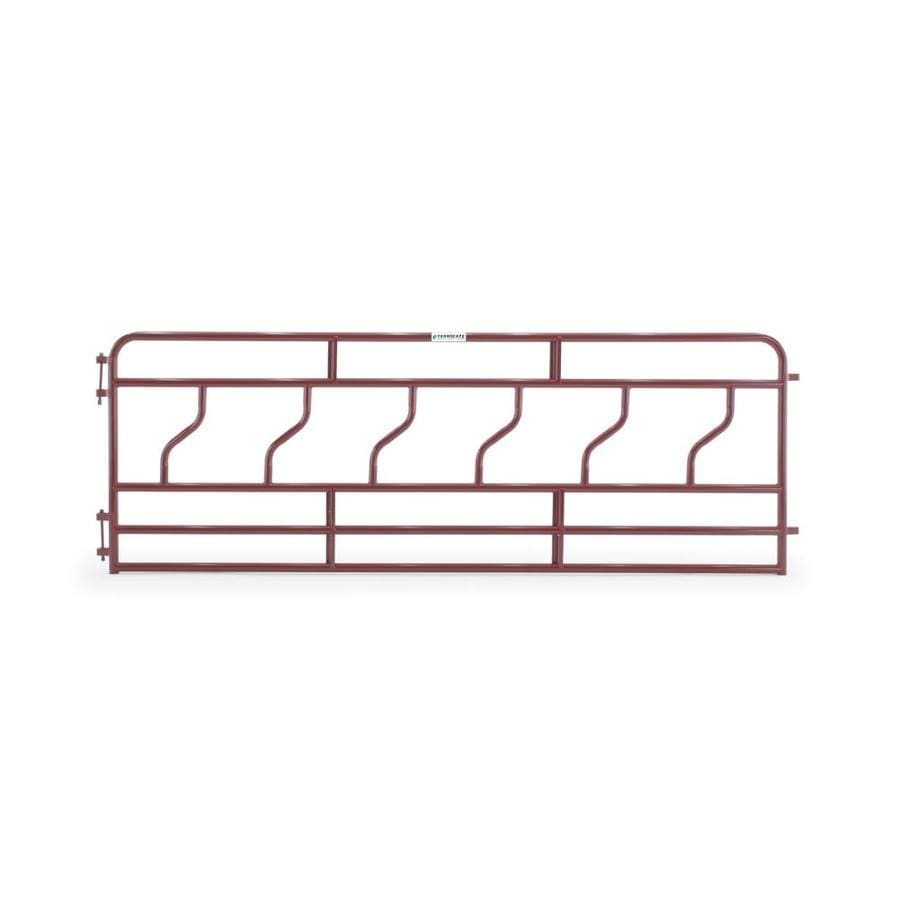 Tarter (Common: 4-ft x 12-ft; Actual: 4.166-ft x 12-ft) Painted Steel Farm Fence Panel