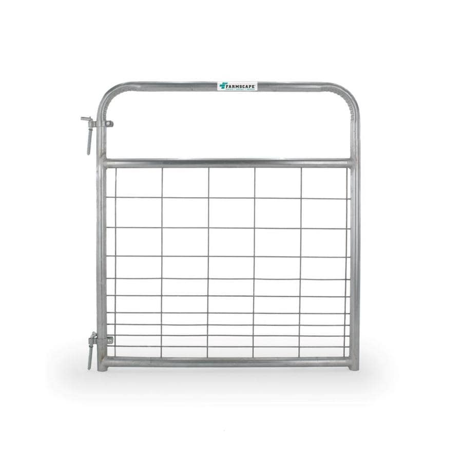 Tarter Galvanized Steel Farm Fence Gate (Common: 4.16-ft x 4-ft; Actual: 4.16-ft x 3.75-ft)