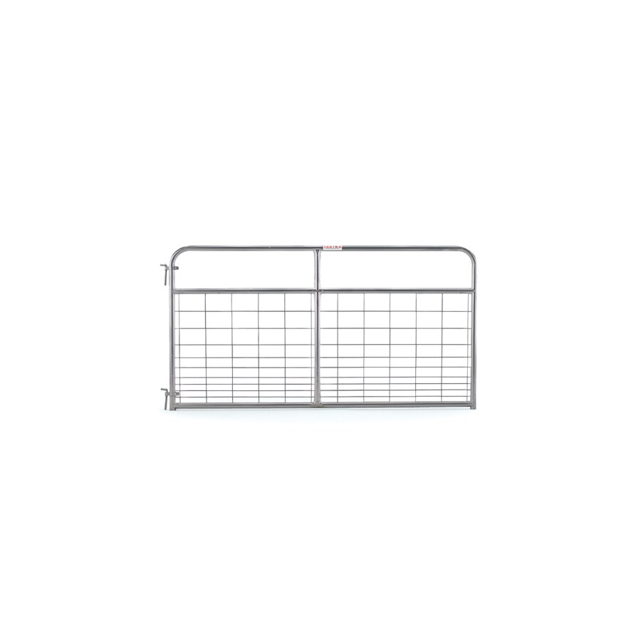 Tarter (Common: 4.16-ft x 8-ft; Actual: 4.16-ft x 7.75-ft) Galvanized Steel Farm Fence Gate