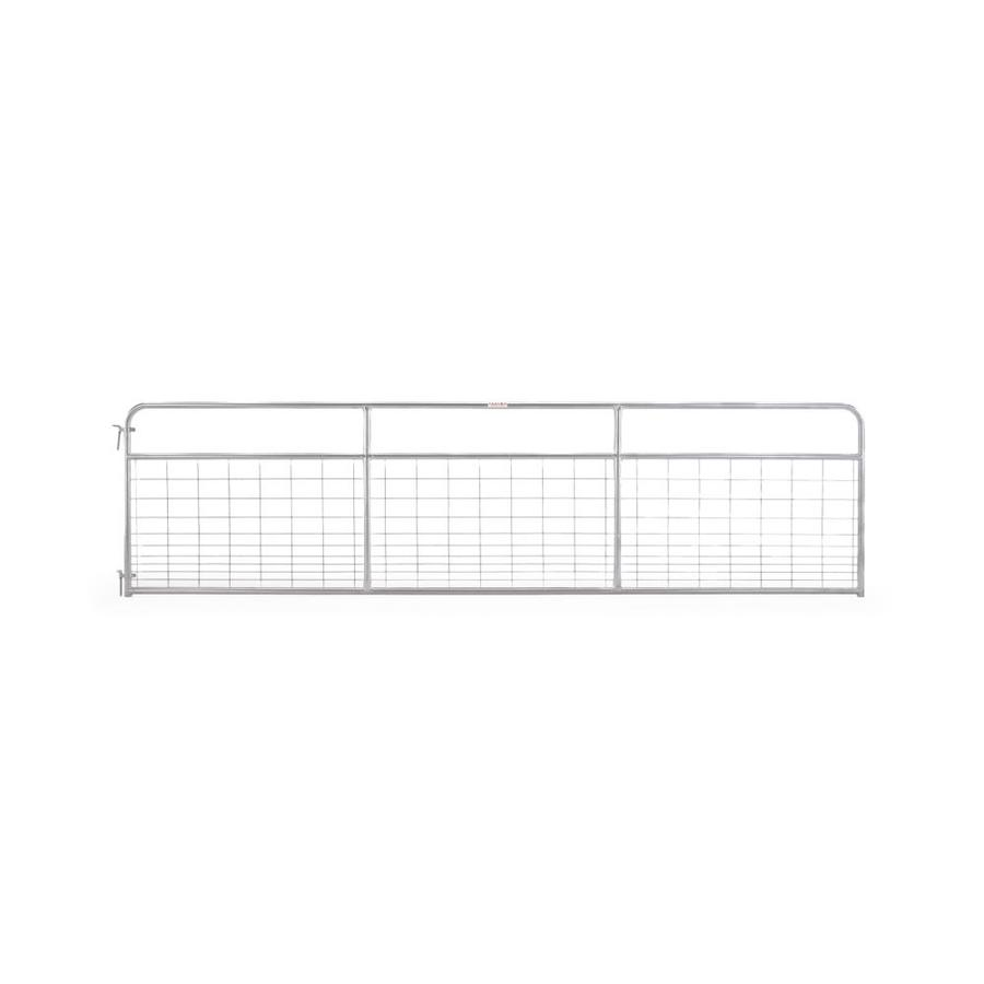 Tarter (Common: 4.16-ft x 14-ft; Actual: 4.16-ft x 13.75-ft) Galvanized Steel Farm Fence Gate