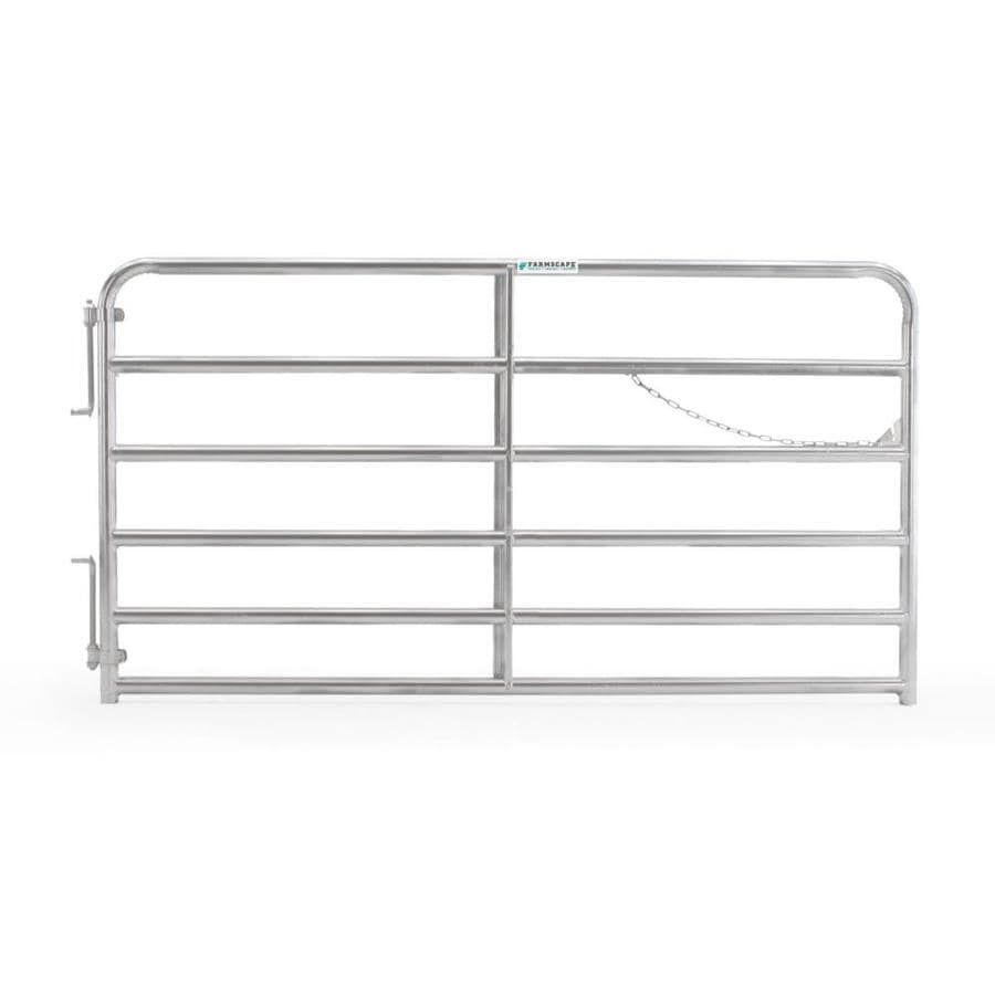 Tarter (Common: 4.33-ft x 8-ft; Actual: 4.33-ft x 7.75-ft) Galvanized Steel Farm Fence Gate