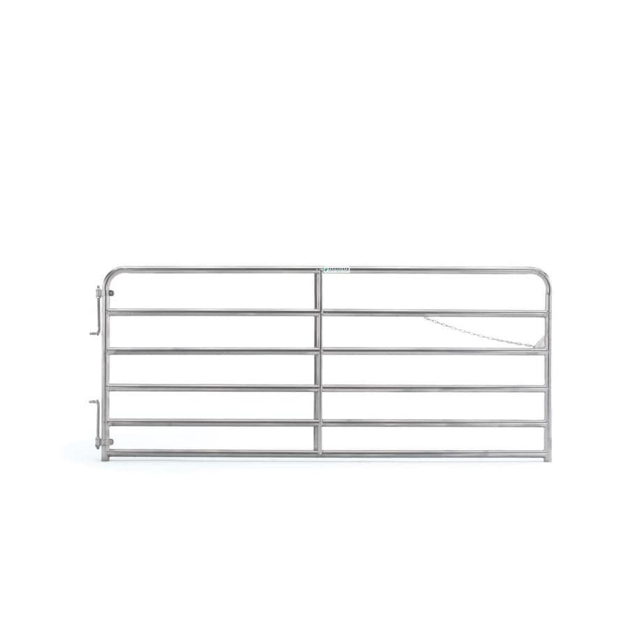Tarter (Common: 4.33-ft x 10-ft; Actual: 4.33-ft x 9.75-ft) Galvanized Steel Farm Fence Gate