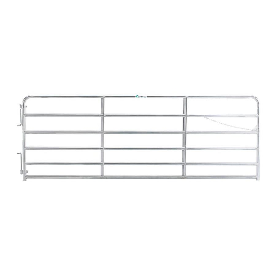 Tarter (Common: 4.33-ft x 12-ft; Actual: 4.33-ft x 11.75-ft) Galvanized Steel Farm Fence Gate