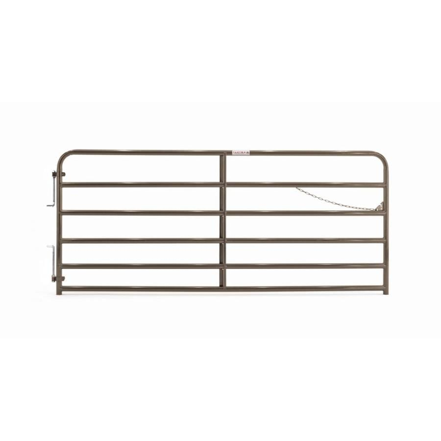 Tarter (Common: 4.33-ft x 10-ft; Actual: 4.33-ft x 9.75-ft) Brown Powder Coat Steel Farm Fence Gate