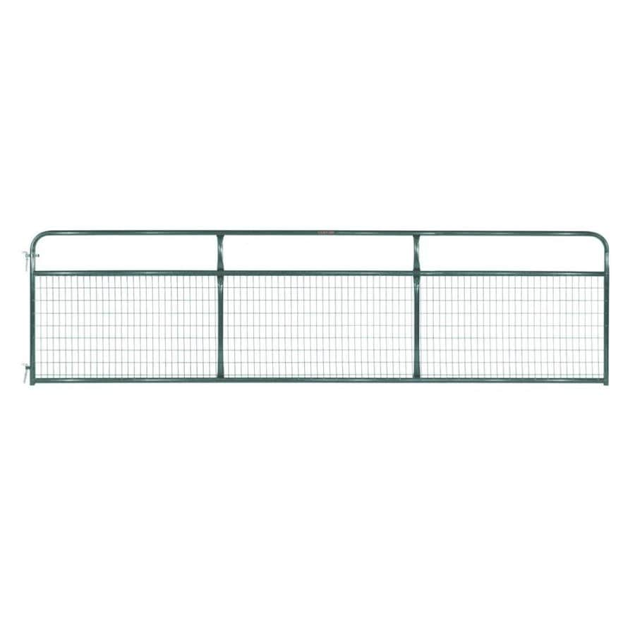 Tarter Green Powder Over E-Coat Steel Farm Fence Gate (Common: 4.16-ft x 16-ft; Actual: 4.16-ft x 15.75-ft)