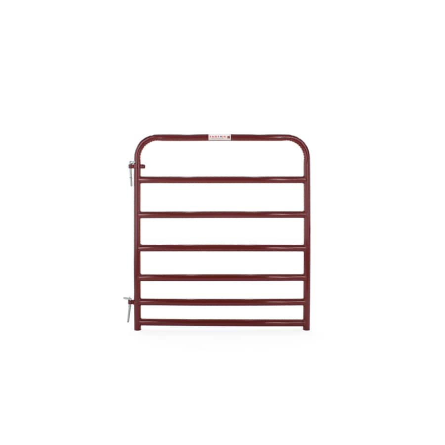 Tarter (Common: 4.16-ft x 4-ft; Actual: 4.16-ft x 3.75-ft) Red E-Coat Steel Farm Fence Gate