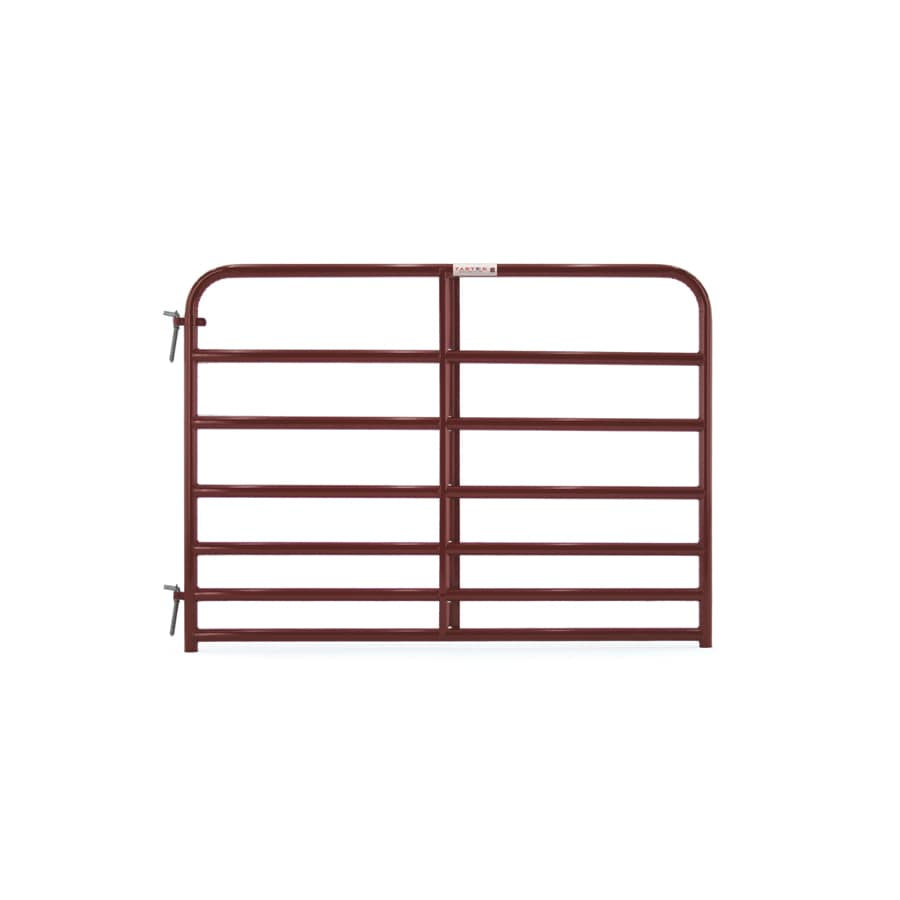 Tarter Red E-Coat Steel Farm Fence Gate (Common: 4.16-ft x 6-ft; Actual: 4.16-ft x 5.75-ft)