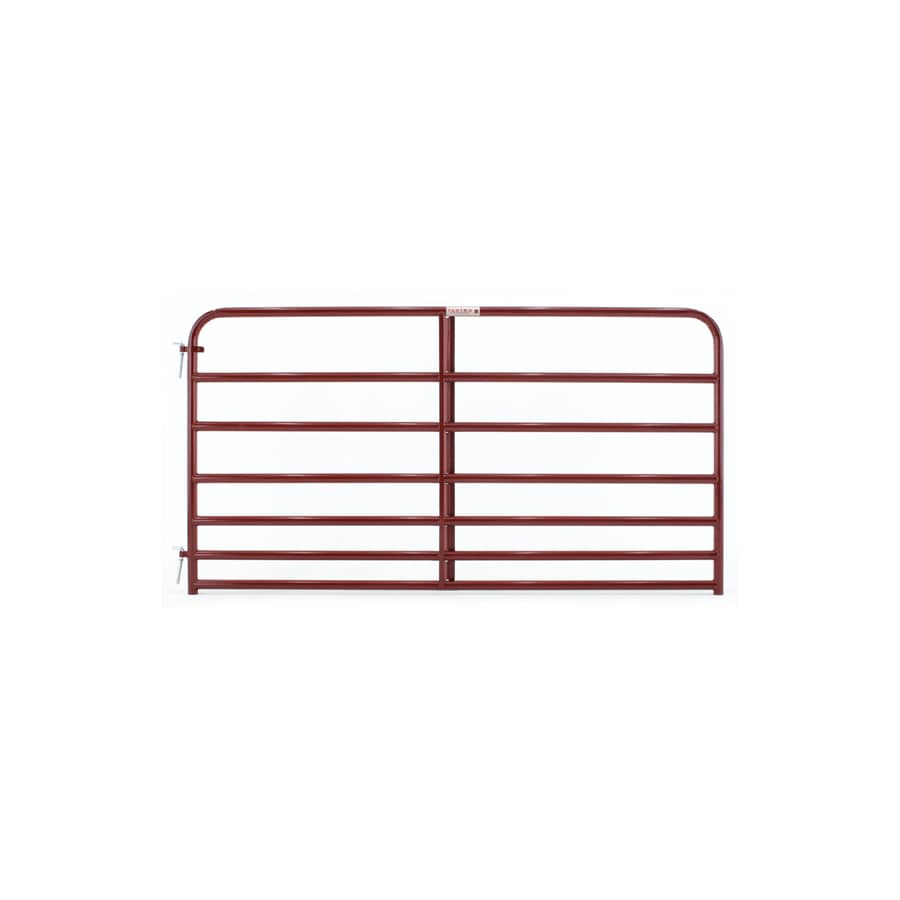 Tarter (Common: 4.16-ft x 8-ft; Actual: 4.16-ft x 7.75-ft) Red E-Coat Steel Farm Fence Gate