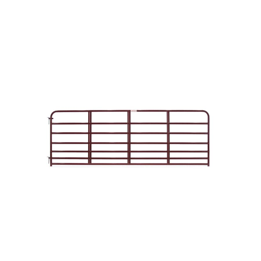 Tarter (Common: 4.16-ft x 12-ft; Actual: 4.16-ft x 11.75-ft) Red E-Coat Steel Farm Fence Gate