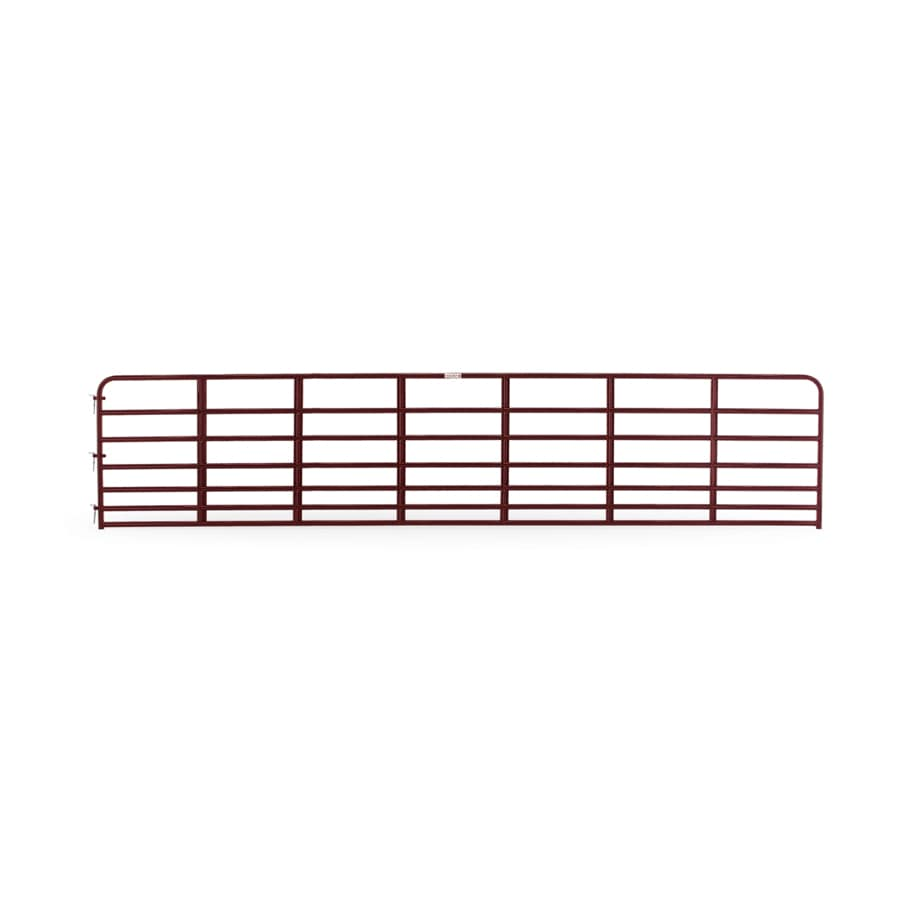 Tarter (Common: 4.16-ft x 20-ft; Actual: 4.16-ft x 19.75-ft) Red E-Coat Steel Farm Fence Gate