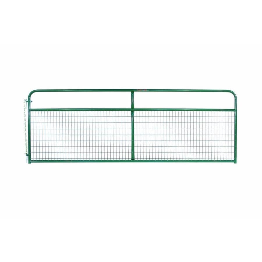 Tarter Green Powder Over E-Coat Steel Farm Fence Gate (Common: 4.16-ft x 12-ft; Actual: 4.16-ft x 11.75-ft)
