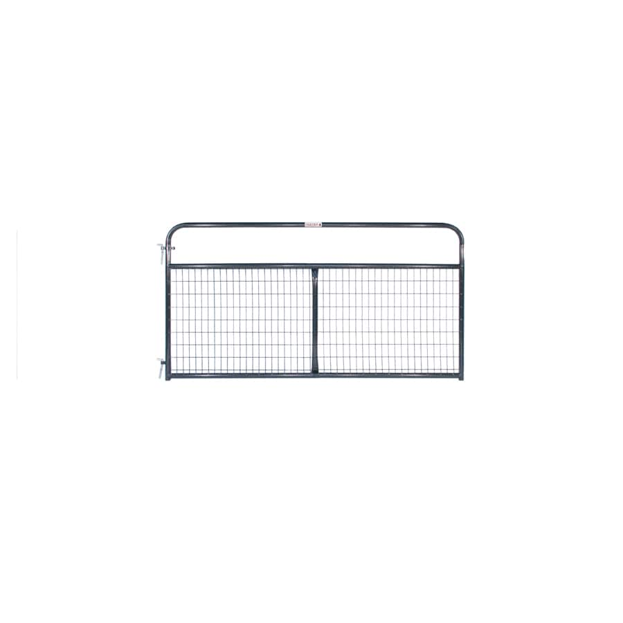 Tarter (Common: 4.16-ft x 8-ft; Actual: 4.16-ft x 7.75-ft) Blue E-Coat Steel Farm Fence Gate
