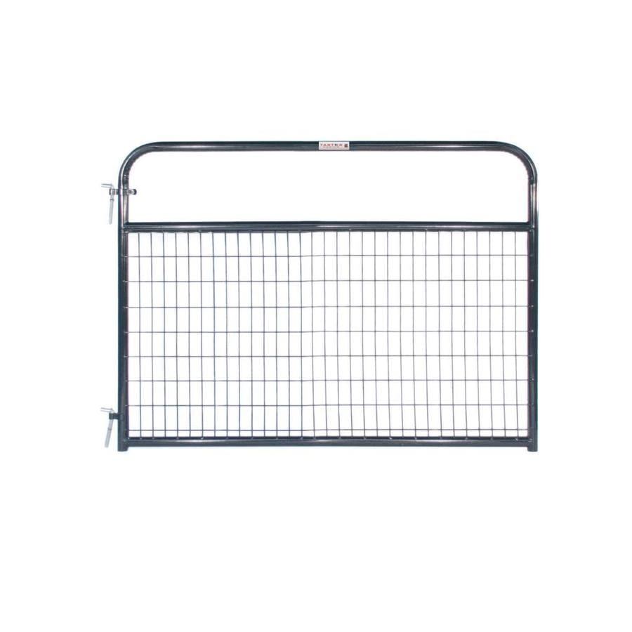 Tarter (Common: 4.16-ft x 6-ft; Actual: 4.16-ft x 5.75-ft) Blue E-Coat Steel Farm Fence Gate