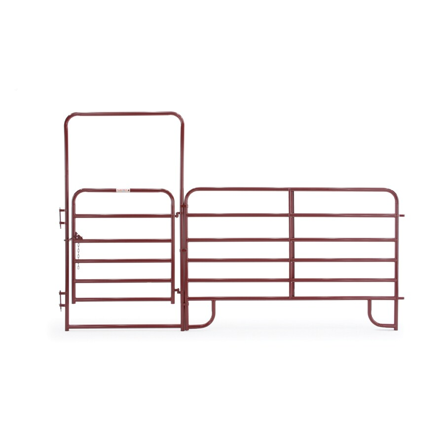 Tarter Red E-Coat Steel Farm Fence Walk-Thru Gate (Common: 8-ft x 12-ft; Actual: 8-ft x 12.58-ft)