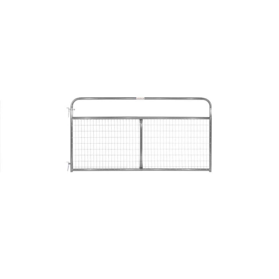Tarter (Common: 4.16-ft x 8-ft; Actual: 4.16-ft x 7.75-ft) Gray Powder Over E-Coat Steel Farm Fence Gate