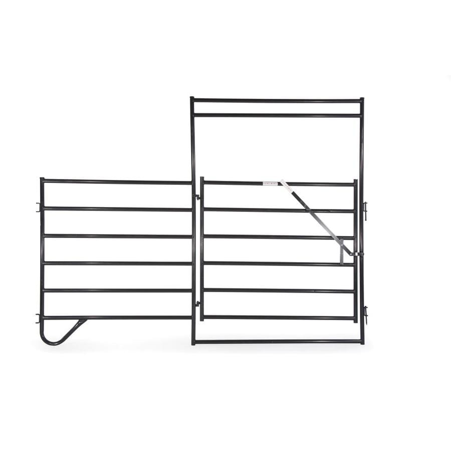 Tarter (Common: 9-ft x 12-ft; Actual: 9-ft x 12-ft) Painted Steel Farm Fence Panel
