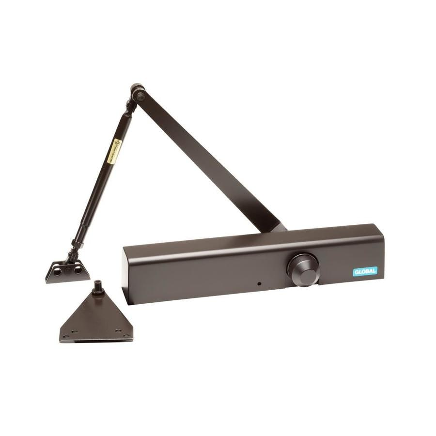 Size 4 Global Door Controls Commercial Door Closer in Duronotic with Backcheck
