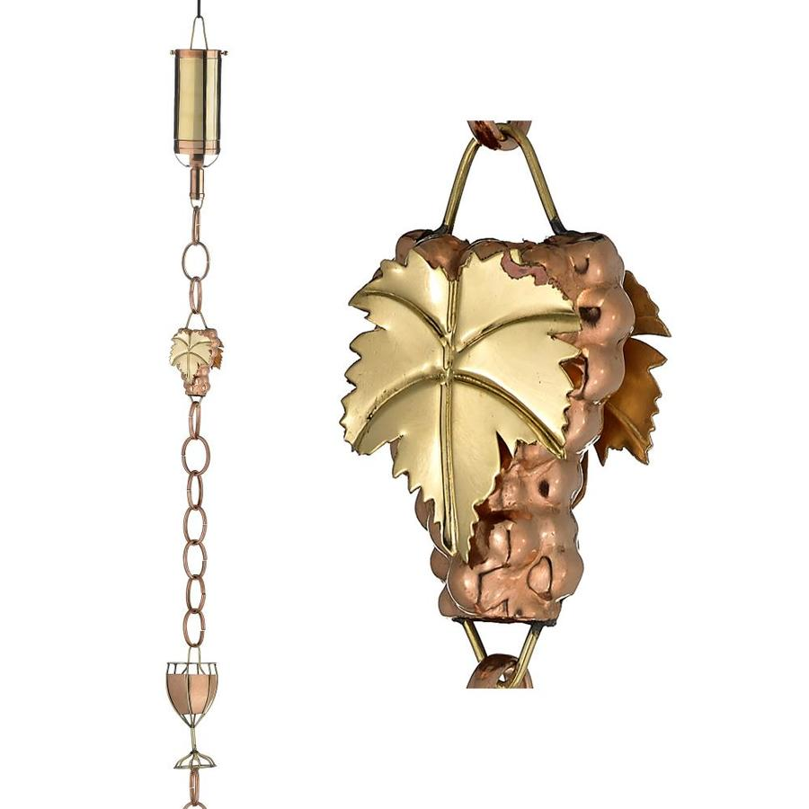 Good Directions 8.5-ft Copper Wine Bottle with Glass Rain Chains