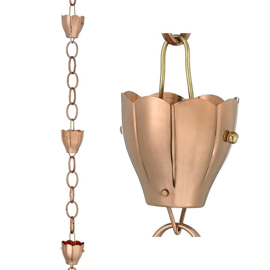 Good Directions 8.5-ft Copper Crocus Rain Chains