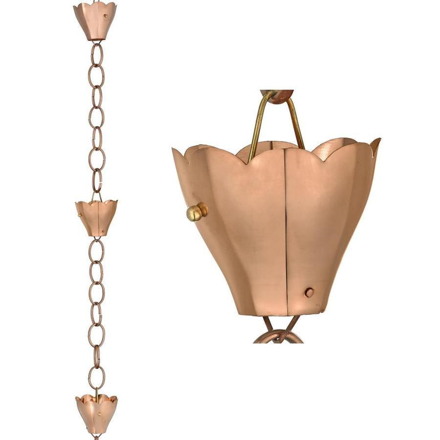 Shop Good Directions Rain Chain 8 5 Ft Copper Crocus Rain