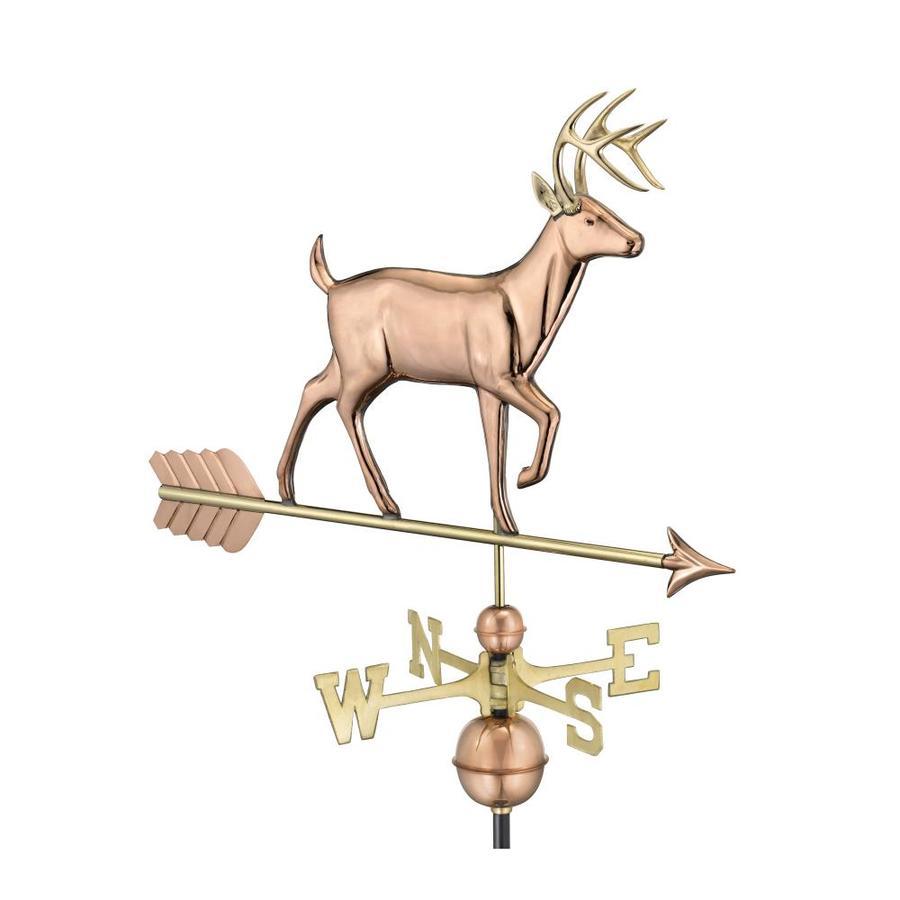 Good Directions Copper Roof-Mount Deer Weathervane