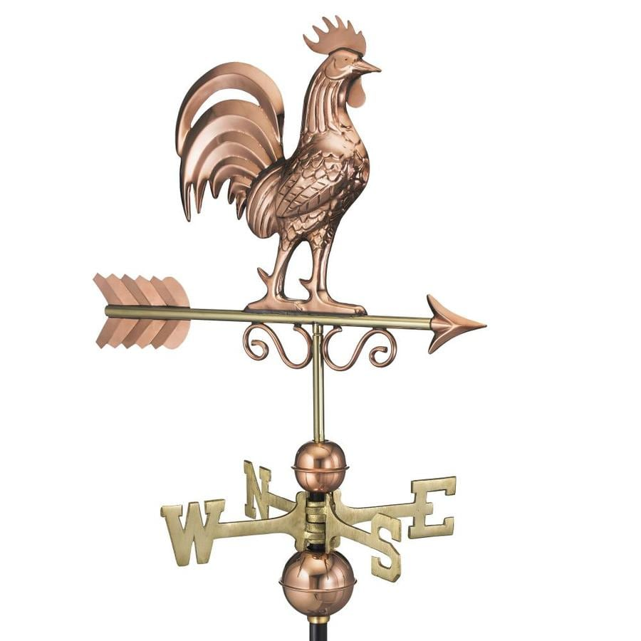 Good Directions Copper Roof-Mount Rooster Weathervane