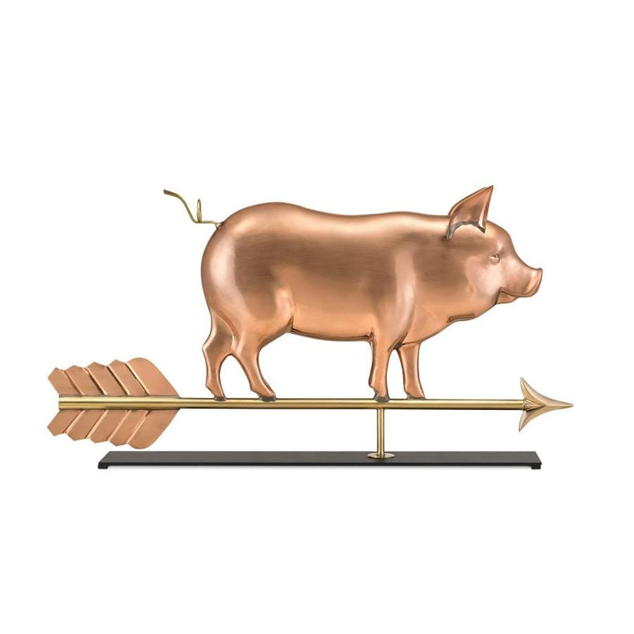 Good Directions Copper Freestanding Pig Weathervane