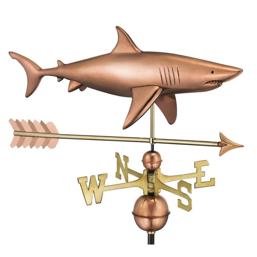 Good Directions Copper Roof-Mount Shark Weathervane