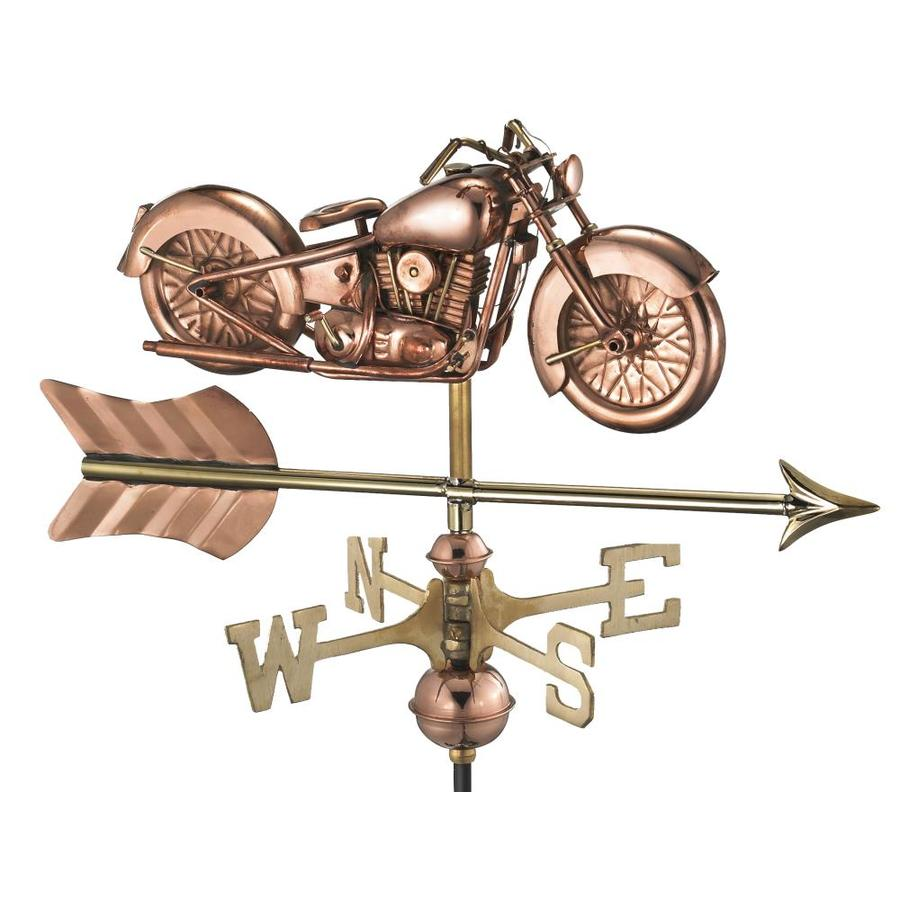 Good Directions Copper Freestanding Motorcycle Weathervane