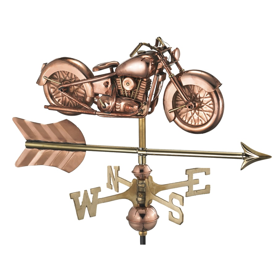Good Directions Copper Roof-Mount Motorcycle Weathervane