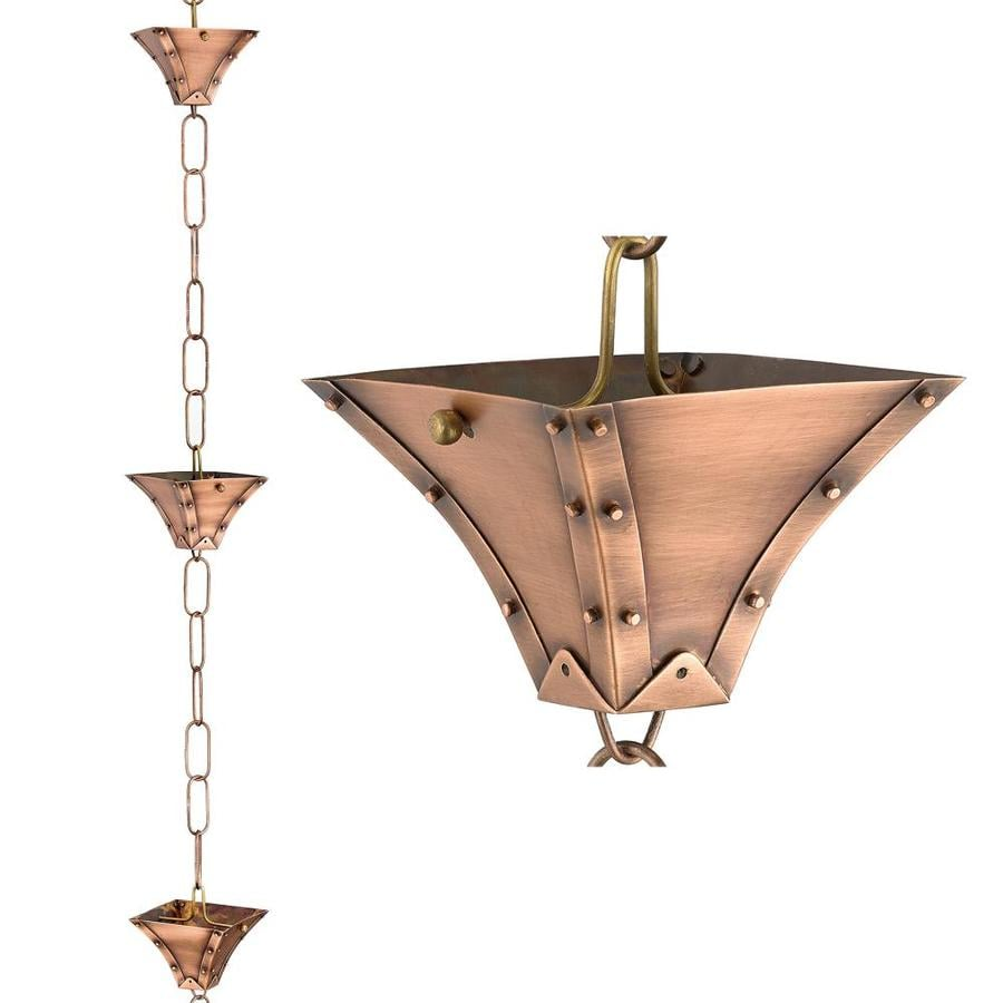 Good Directions 8.5-ft Copper Single Link Rain Chains