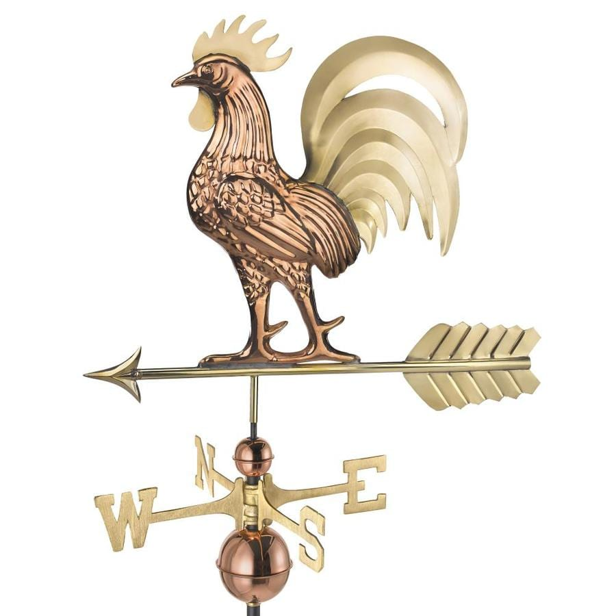 Good Directions Copper And Brass Copper Roof Mount Rooster