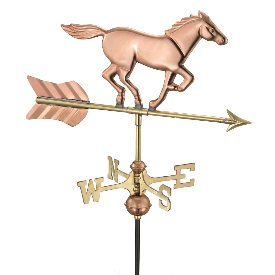 Good Directions Polished Copper Freestanding Horse Weathervane