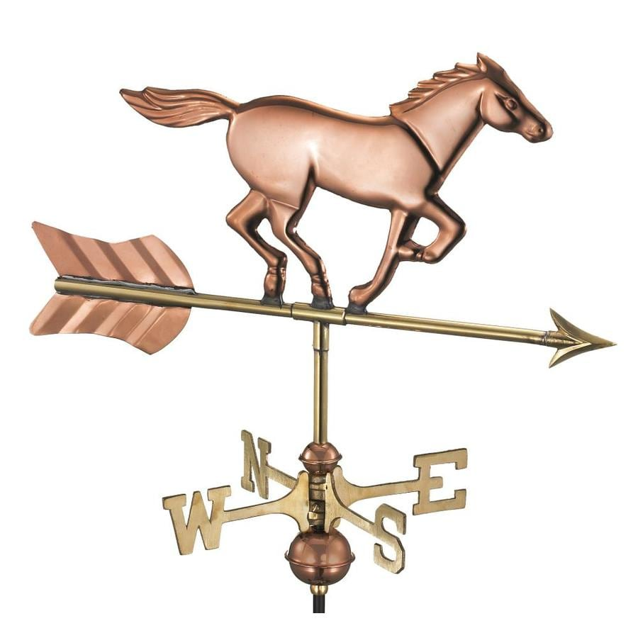 Good Directions Polished Copper Horse Weathervane