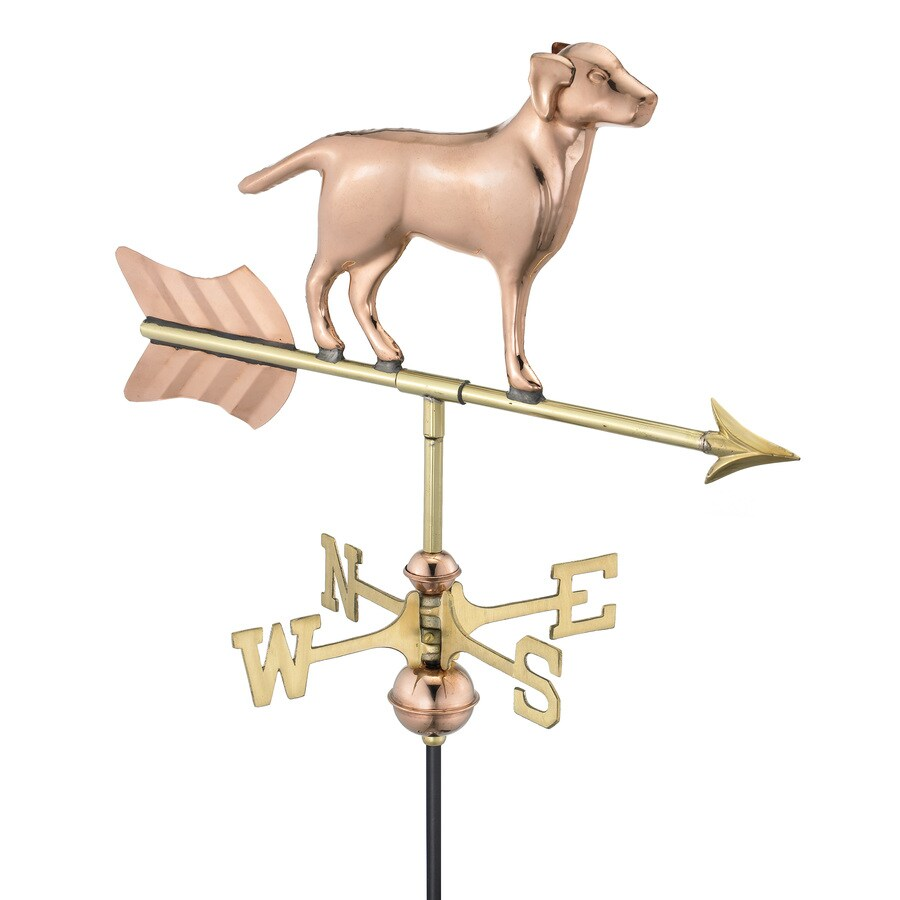 Good Directions Polished Copper Labrador Weathervane