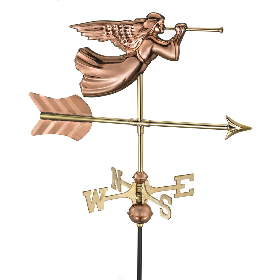 Good Directions Polished Copper Angel Weathervane