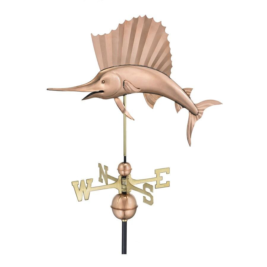 Polished Copper Sailfish Weathervane